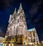 Night view of Cologne Cathedral - Germany Stock Images
