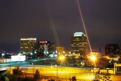 Night view of Colorado Springs downtown Stock Photos