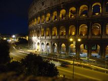 Night view of colosseum in Rome royalty free stock photos