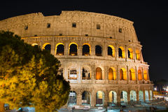 Night view of Colosseum, Rome Royalty Free Stock Images
