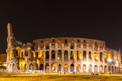 Night view of colosseum in Rome Royalty Free Stock Image