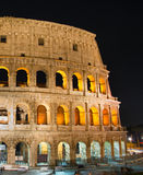 Night view of Colosseum, Rome Stock Photo