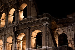 Night view of Colosseum in Rome, Italy. Rome architecture and landmark. Rome Colosseum is one of the main attractions of Rome and Italy royalty free stock photography