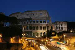 Night view of the Colosseum. Summer. Italy. Rome. Night view of the Colosseum Royalty Free Stock Images