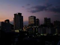 Bangkok city night view royalty free stock photography