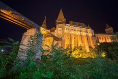 Night view on Corvin castle 1 Stock Photo
