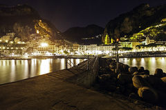 A night view of costiera amalfitana Royalty Free Stock Photography
