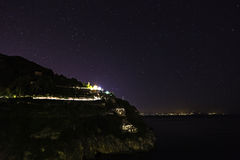 A night view of costiera amalfitana Stock Photography