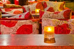 Night view of cosy bar Royalty Free Stock Photo