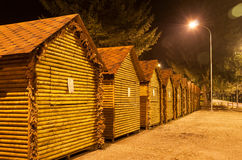 Night view of  cottage Royalty Free Stock Photos