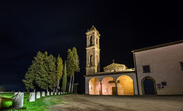 Night view of country church Stock Images