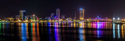 Night view of Da Nang Stock Images
