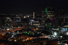 Night view of Dallas, Texas Royalty Free Stock Image
