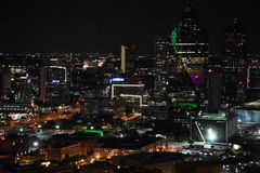Night view of Dallas, Texas Stock Image