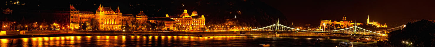 Night view of Danube Royalty Free Stock Image