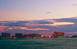 Night view on Destin city Stock Images