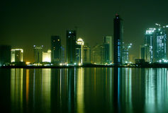Night view Doha, Qatar Stock Photography