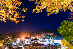 Night view of Doi Ang Khang in Chiang Mai province Stock Photos