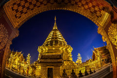 Night view Doi Suthep Stock Photography