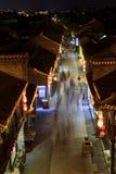 Night view of dongguan street in Yangzhou city Stock Image