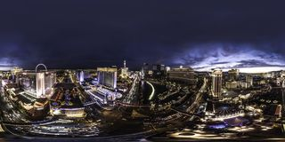 A night view of downtown Las Vegas the strip stock photo