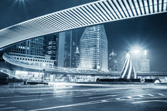 Night view of the downtown in shanghai Royalty Free Stock Photo