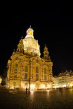 Night view on Dresden Frauenkirche (Church of Our Lady) Stock Photo