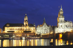 Night view of Dresden Royalty Free Stock Images