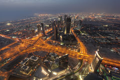Night view of Dubai Royalty Free Stock Photos