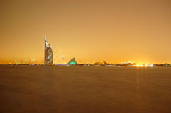 The night view on Dubai Royalty Free Stock Image