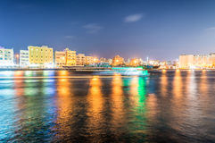 Night view of Dubai Creek, UAE Royalty Free Stock Image