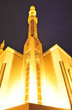 Night View of Dubai Mosque Royalty Free Stock Photos