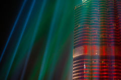 Night view of Dubai Skyscraper Royalty Free Stock Photography