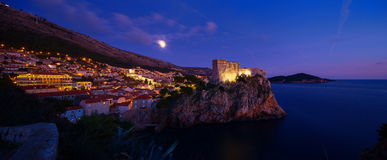 Night view of Dubrovnik. Croatia. Royalty Free Stock Image