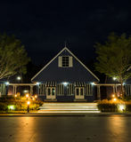 Night view of Dutch style house Stock Photos