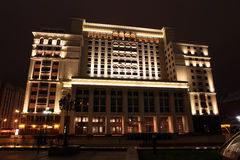 Night View of the eastern facade of the old Hotel Moskva from Ma Royalty Free Stock Photos