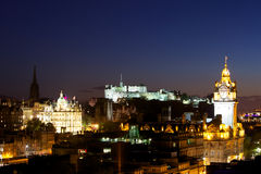 Night view of Edinburgh Royalty Free Stock Photography