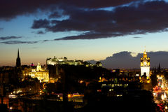 Night view of Edinburgh Stock Photography