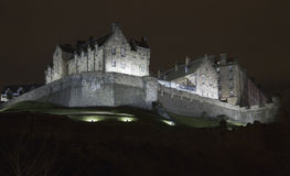 Night view of the Edinburgh Castle, Scotland Stock Photos