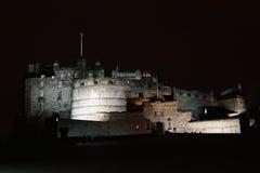 Night view of Edinburgh castle Stock Image