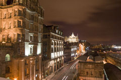Night view of Edinburgh. Edinburgh Night cityscape, from a a Hill, Scotland Royalty Free Stock Photos
