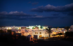 Night view of the Egyptian city of Sharm El Sheikh Royalty Free Stock Photos