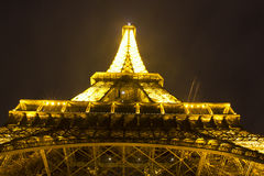 Night view of a Eiffel tower Stock Images