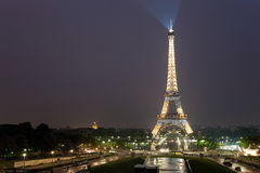 Night view of the Eiffel Tower in Paris Royalty Free Stock Photo