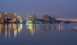 Night view on Eilat. Eilat is a popular resort city of Israel Royalty Free Stock Photography