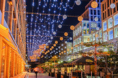 Night view of Ekaterininsky area in Dnipropetrovsk Royalty Free Stock Image