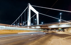 Night view of Elisabeth Bridge Stock Photos