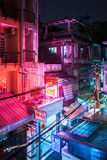 Night view of the empty backside alley, Ho Chi Minh City, Vietnam Stock Photos