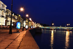 Night view of the English Embankment Stock Photos