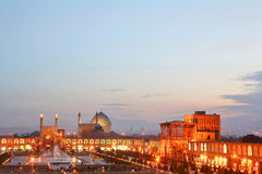 Night view of Esfahan, Iran Royalty Free Stock Images